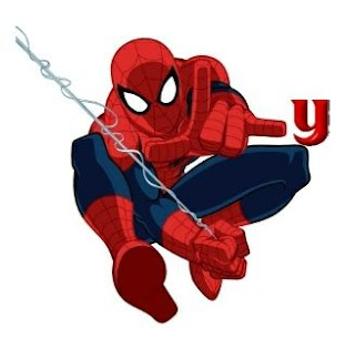 Abecedario de Spiderman con Letras Pequeñas. Spiderman Alphabet with small Letters.
