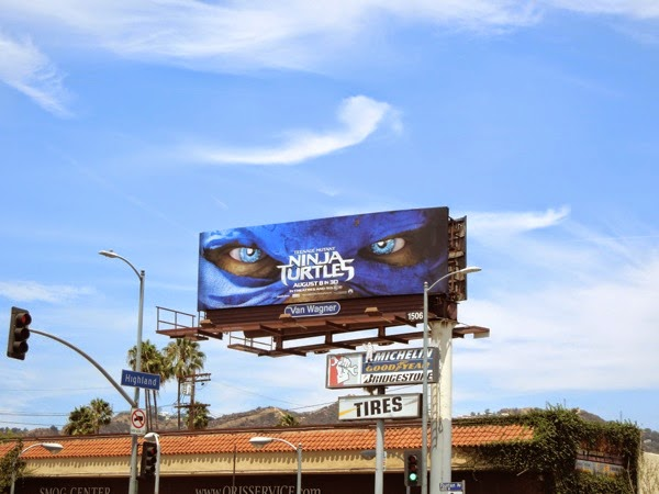 Teenage Mutant Ninja Turtles Leonardo mask billboard