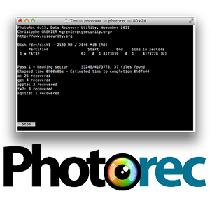 PhotoRec Software de Recuperación de Archivos windows mac linux