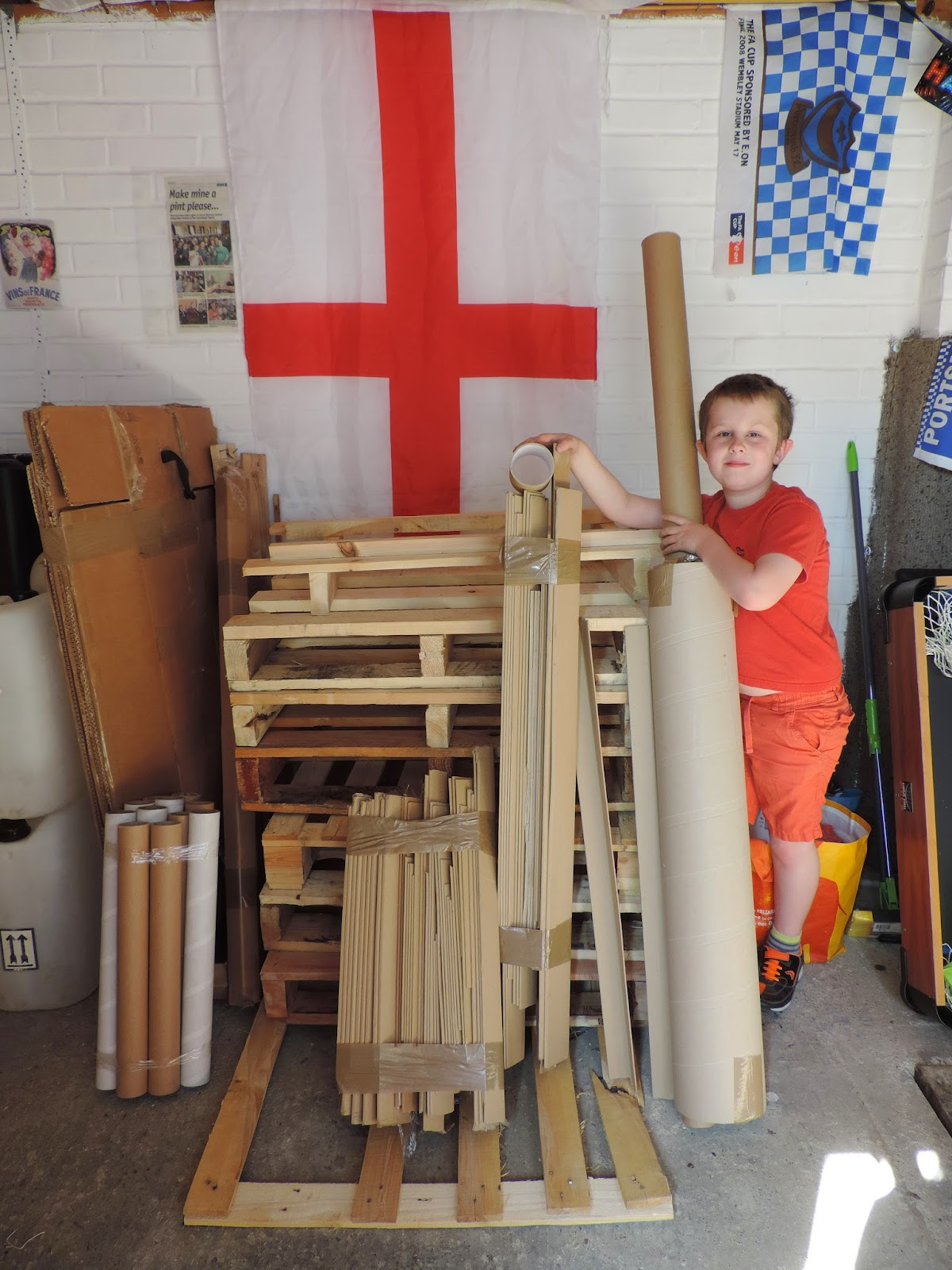 england flag in garage
