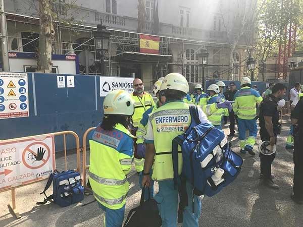 Muere un obrero de 42 años  en el derrumbe del hotel Ritz y 11 personas han resultado heridas, dos de ellas de gravedad