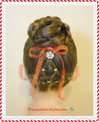 X-mas hairstyle! Christmas tree and bun tutorial.