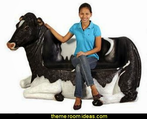 Cowch  Holstein Cow Bench Sculpture