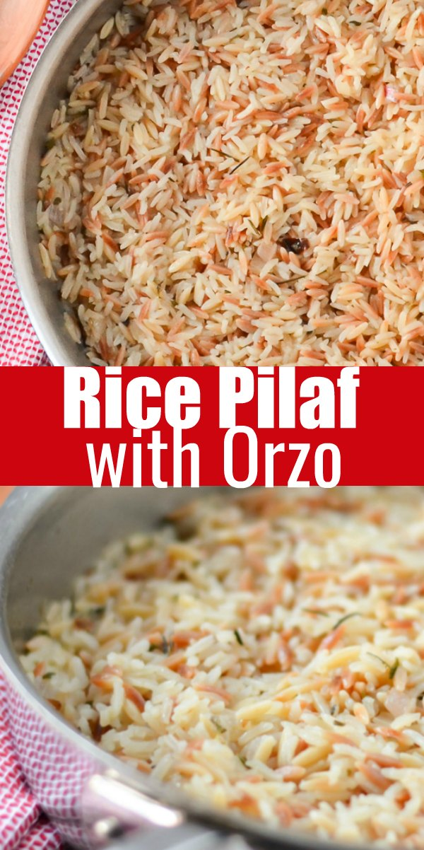 Rice Pilaf Recipe with Orzo is a family favorite side dish recipe thats easy to make from Serena Bakes Simply From Scratch.