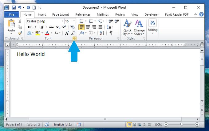 Đặt font chữ mặc định trong Microsoft Word