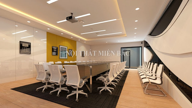 Thiết kế nội thất phòng họp đẹp sang trọng, hiện đại