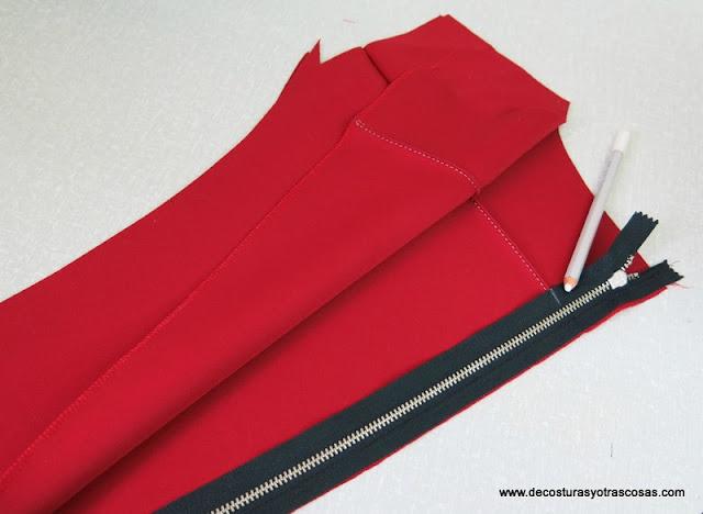 consejo para coser una cremallera