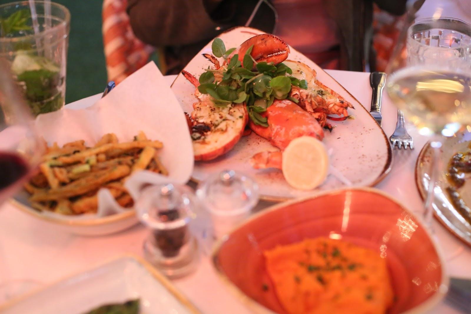 lobster at hush mayfair