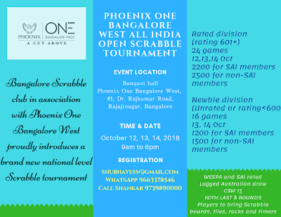 Phoenix One Bangalore West All India Open Scrabble Tournament
