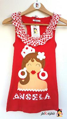 Camiseta novia despedida de soltera flamenca Pikapic