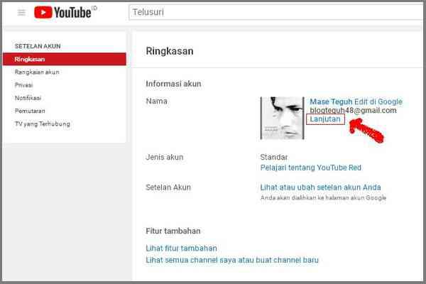 URL Khusus Youtube