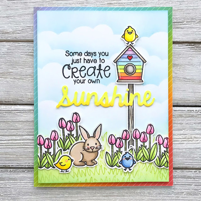 Sunny Studio Stamps: Easter Wishes Customer Card Share by Leanne West