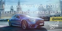 Logo Concorso ''Mercedes-Benz World 2019'' e vinci uno dei 10 viaggi a londra del valore di 1.000€