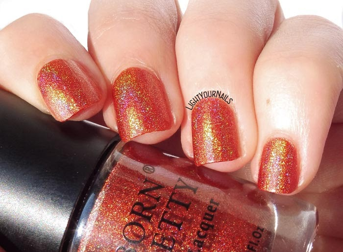 Smalto olografico arancione Born Pretty Wine Malaga - no. 03 Holo series orange holographic nail polish #nails #bornpretty #holo #unghie #lightyournails