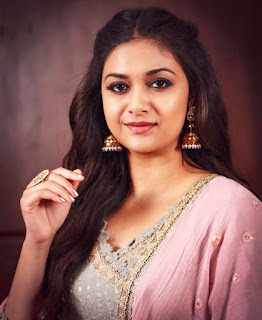 Keerthy Suresh in Pink Dress for Pandem Kodi 2 Promotions 1