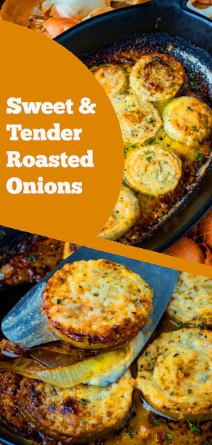Sweet & Tender Roasted Onions | recipes roasted onions | recipes dinner | recipes side dish | recipes gluten free | recipes vegan #sweet #roasted #onions #vegan #sidedish #glutenfree