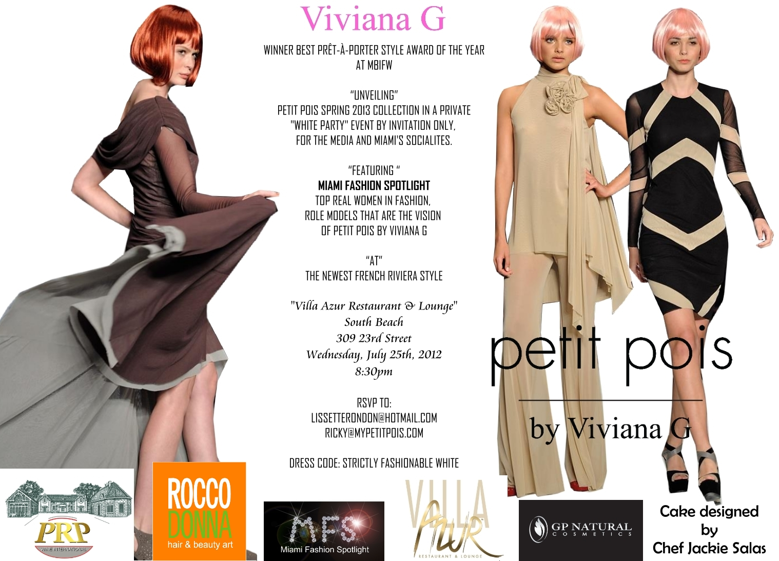 Fashion Designer Viviana G Winner Of Best Pret A Porter Style Award At Miami Fashion Week Unveils Her Petit Pois Spring 2013 Collection Miami Fashion Spotlight