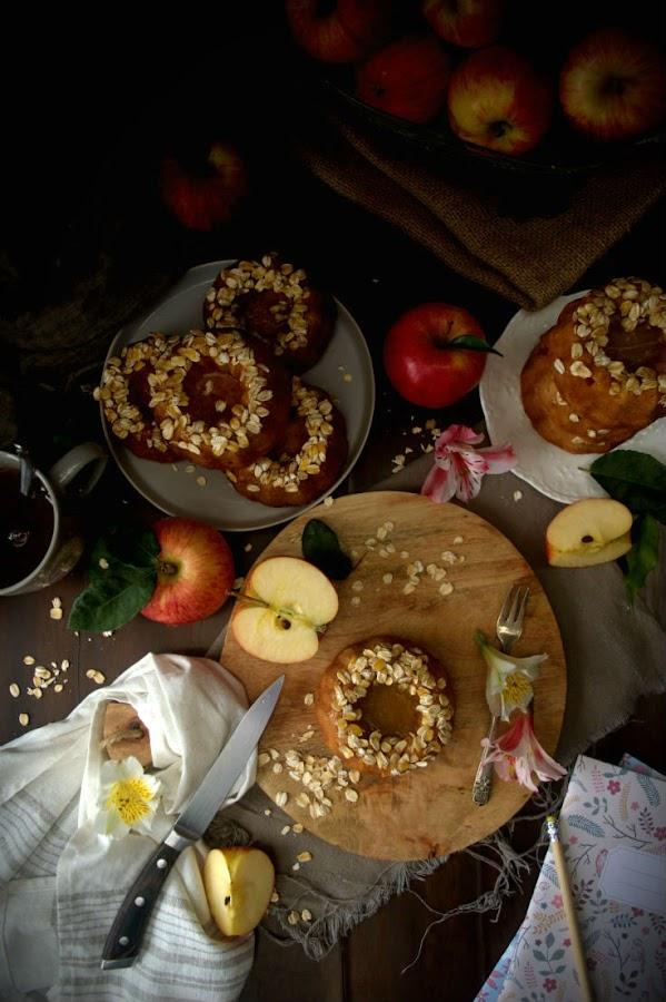 Bizcocho-bundt-cake-vegano-manzana-avena