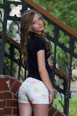 schöne Polin in sexy Hotpants