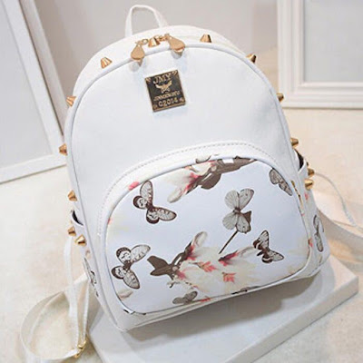 """Ziyi Boutique"": Rivets Women Backpack Murah Giler"
