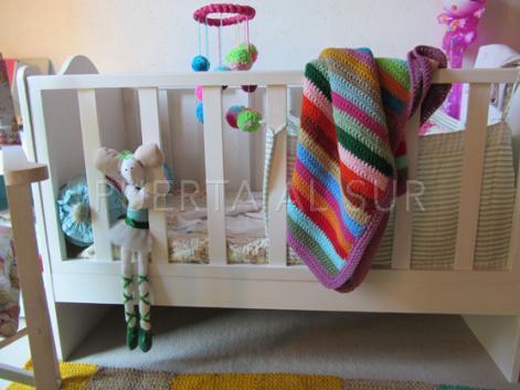 mantitas tejidas bebe deco interior - Mantas para bebe tejidas a crochet para la cuna