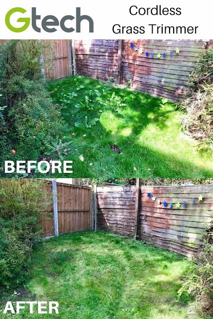 BEFORE/AFTER GTech Cordless Grass Trimmer