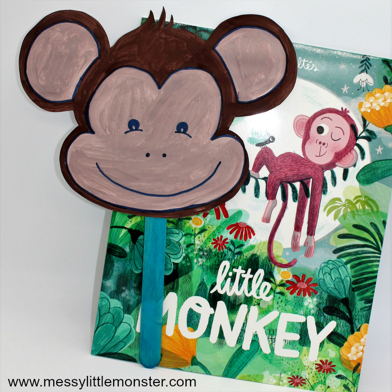 Monkey mask craft for kids - Booktrust Time to Read 2018
