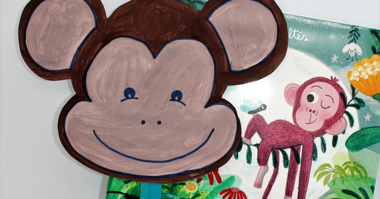 Monkey Mask Craft - Booktrusts Time to Read Campaign - Messy Little ...