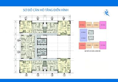Mặt bằng điển hình tầng 6 - 32Mặt bằng điển hình tầng 6 - 32 dự án Phú Mỹ Ngoại Giao Đoàn