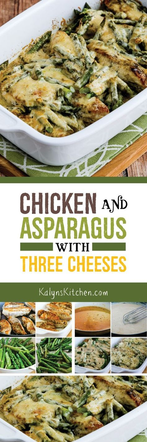 CHICKEN AND ASPARAGUS WITH THREE CHEESES