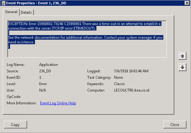 LS Retail Error : EXCEPTION: Error 15990801: T8240 C15990801 | All