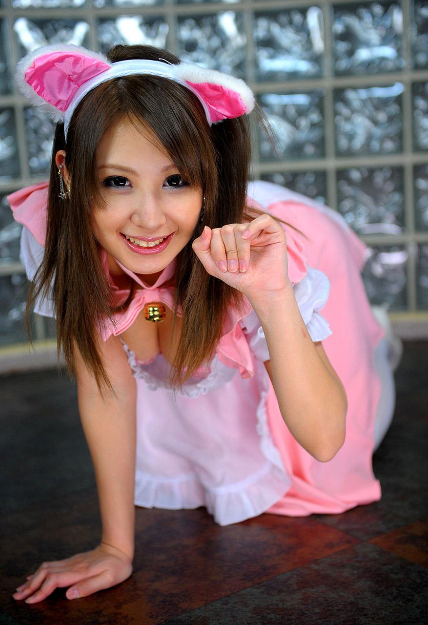 mariru amamiya sexy french maid cosplay 05