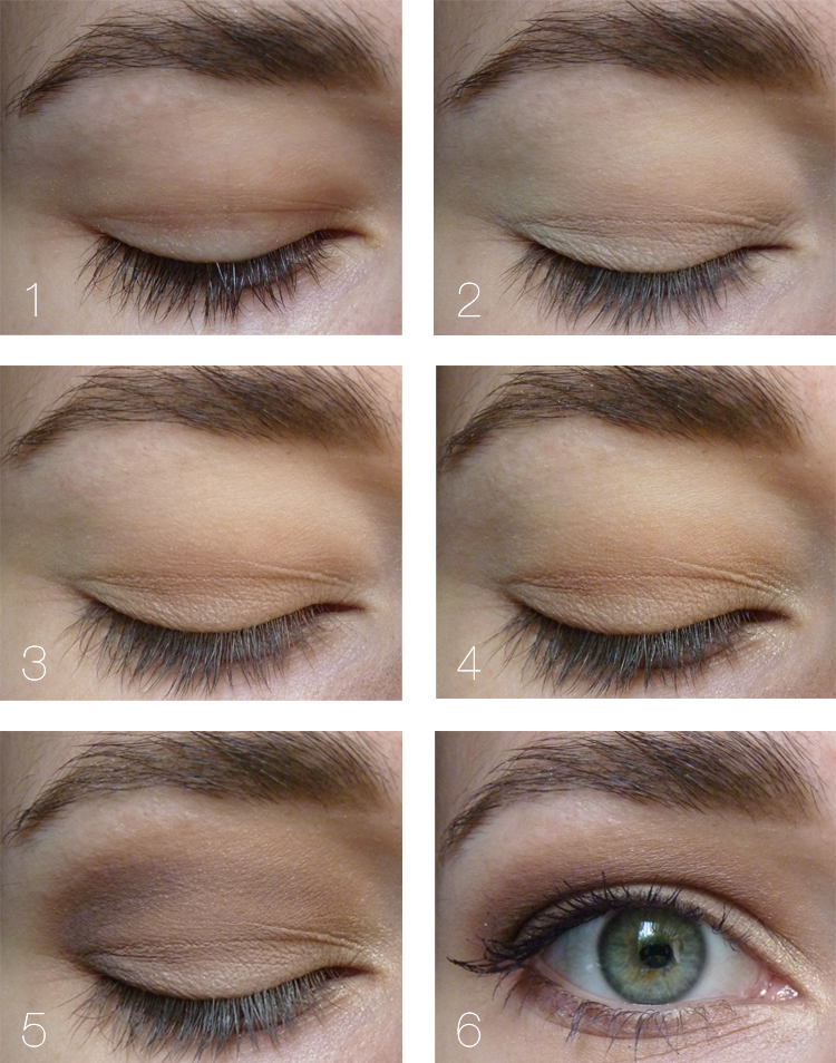Make-Up-Tutorial für Schlupflider