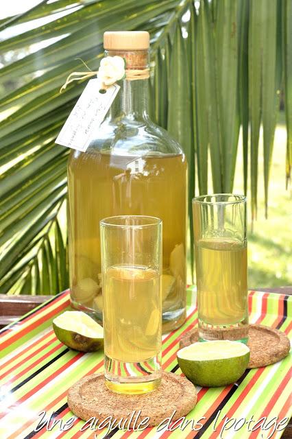 Rhum arrangé citron vert- gingembre cadeau gourmand