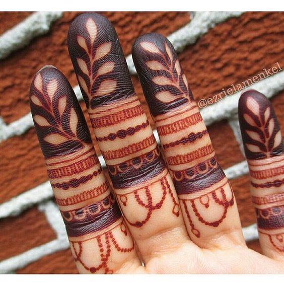 simple finger mehndi design easy and beautiful