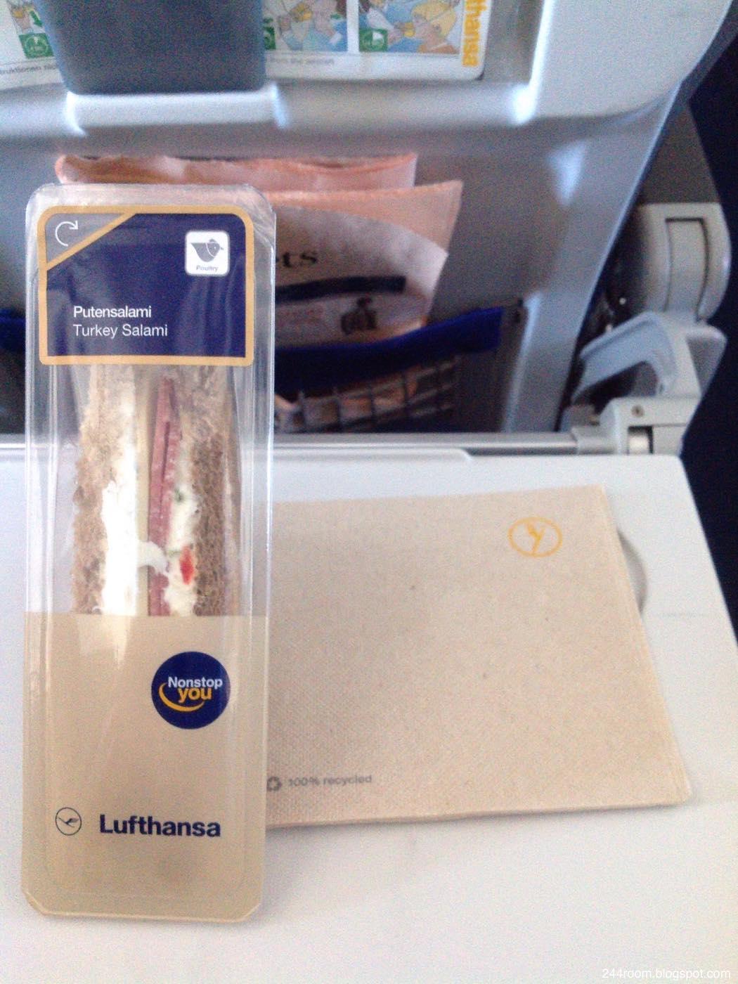 ルフトハンザエコノミークラス機内食 LH economy class flight meal
