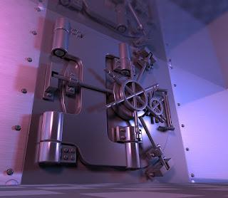 金属製の重たそうな扉