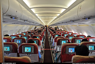 All economy class Kingfisher Airbus A321 VT-KFW.