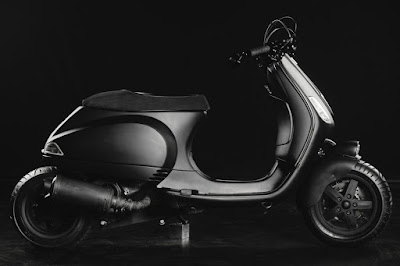 "Vespa LX ""Kaonashi"" Custom by Butcher Garage"