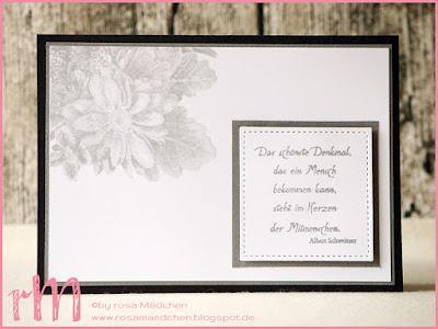 Stampin' Up! rosa Mädchen Kulmbach: Trauerkarten mit Blumen von Herzen und Sprüchen