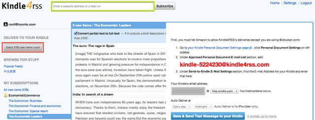 Hoonio Blog: Read Economist for free on your Kindle