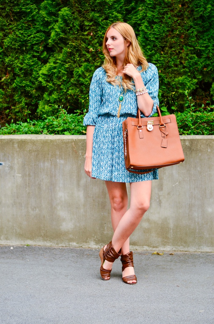 Green H&M Bohemian Summer dress