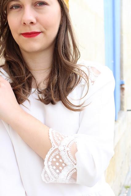 La blouse blanche en dentelle Edith easy clothes
