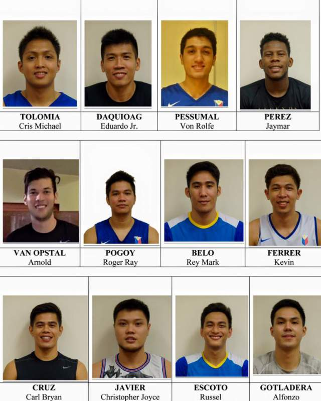 Gilas Pilipinas team roster for 2016 FIBA Asia Challenge