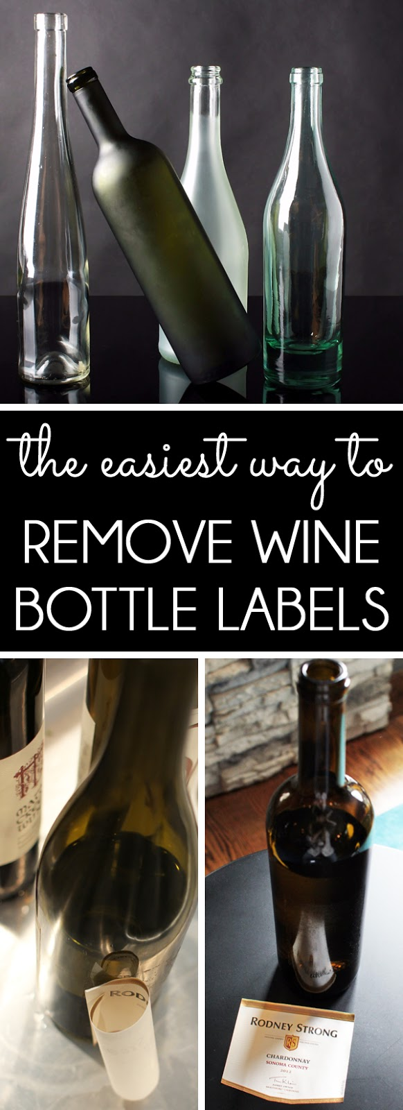 How to Remove Wine Bottle Labels