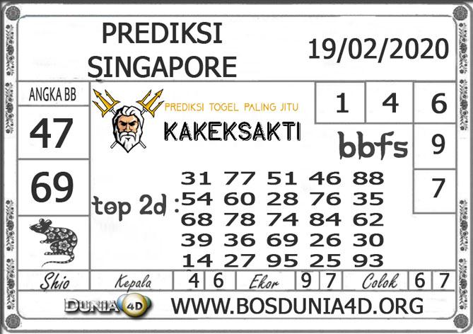 PREDIKSI TOGEL SINGAPORE DUNIA4D 19 FEBRUARI 2020