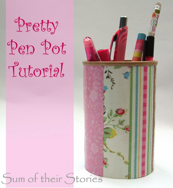 Recycled Pretty Pen Tub