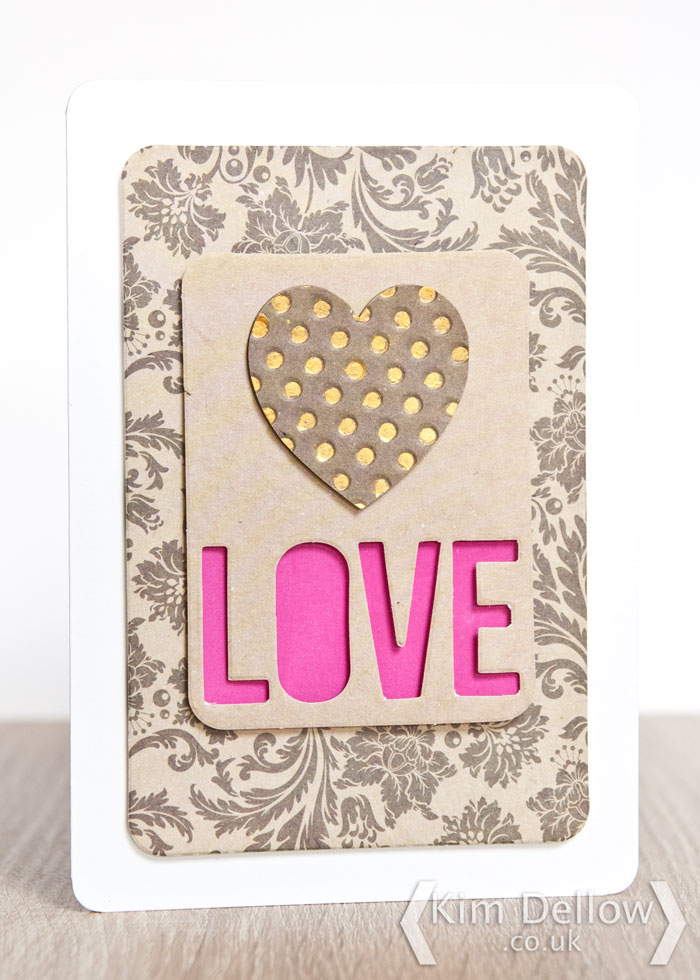 Valentine's card design idea by Kim Dellow