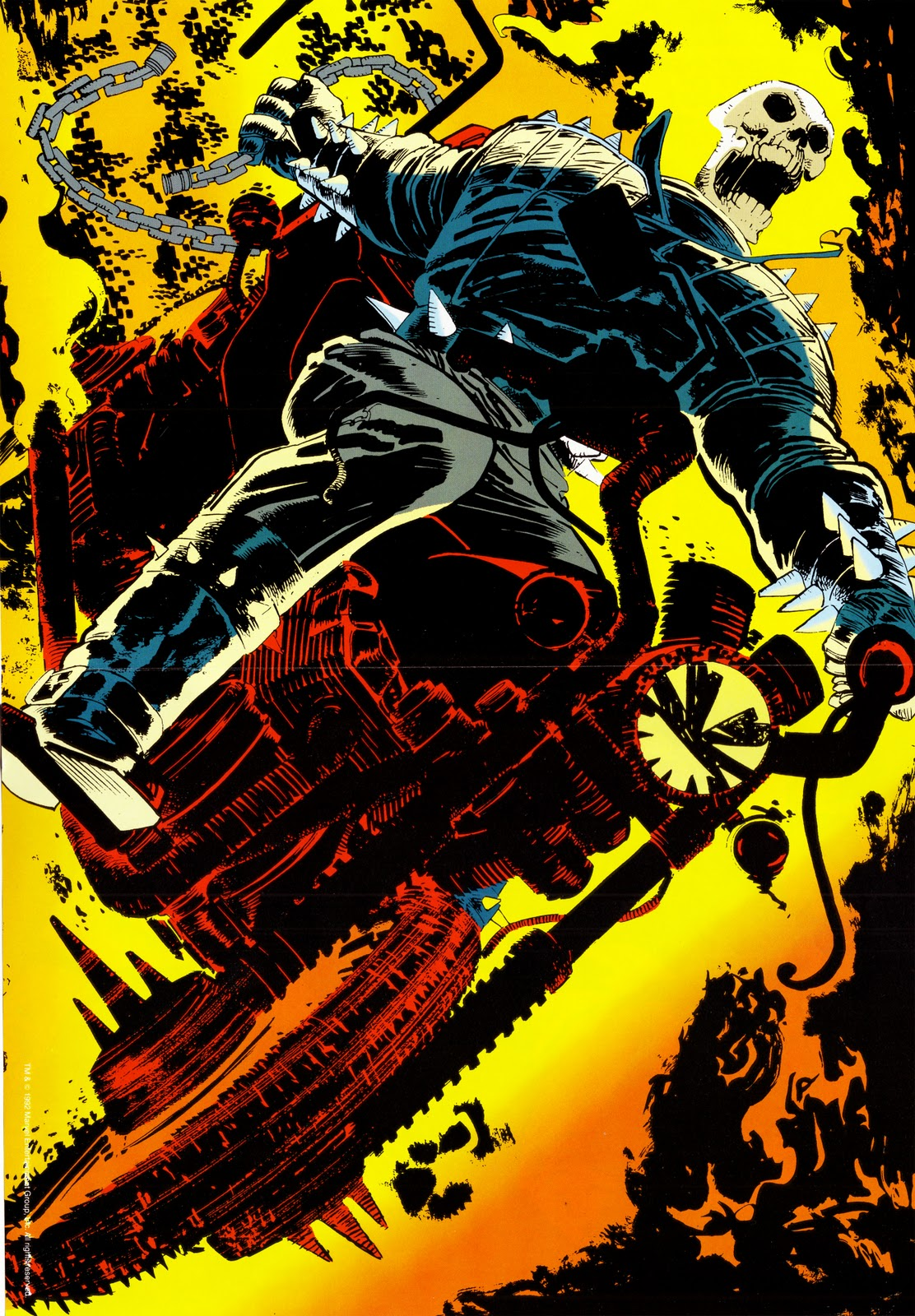 elseworlds finest ghost rider poster magazine