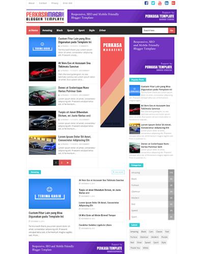 Perkasa Magazine Premium Responsive And Seo Friendly Blogger Template